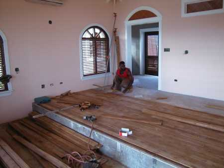 laying floor