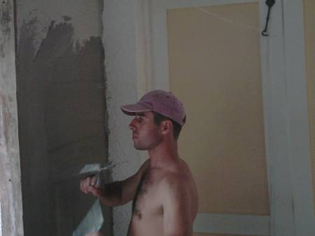 plaster work on the walls